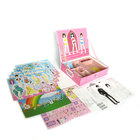 China supplier Whole set customized Magnetic Fashion dress up game in a hard box for girls ' toy
