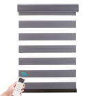 Quality sunscreen double layer blinds electric motorized Zebra shades