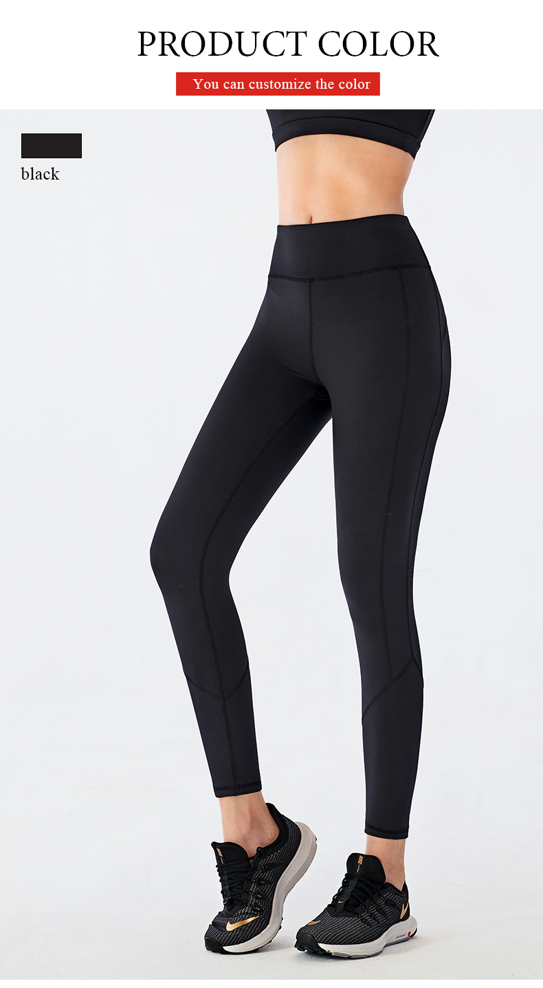 High waisted buttock tights gym running pants yoga pants running seamless leggings for women