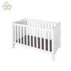 Baby newborn crib cot bed white china solid wood furniture prices