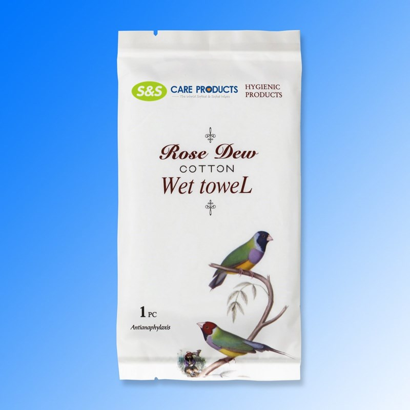 Single Wrapped Thickened Organic Nonwoven Flushable Restaurant Hand Cleaning Wipes