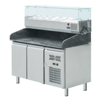Commercial Refrigeration Equipment Stainless Steel Refrigerated Sandwich Pizza Prep Table With Marble Top BN-PZ15R2