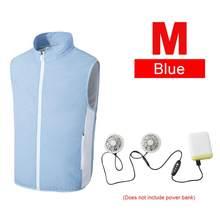 Прочный походный жилет с вентилятором и USB, охлаждающая одежда, жилет для рыбалки, велоспорта, кондиционера, работы на открытом воздухе, быст...(Китай)