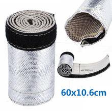 Металлический теплозащитный рукав изолированный провод шланг крышка обертывание ткацкий станок труба 60X10.6cm автомобильные аксессуары(Китай)
