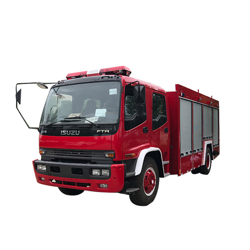 China new brand 8m3 double row cab diesel euro 5 water foam fire fighting truck