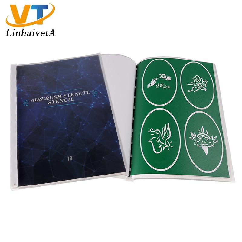 Book 18 Custom design glitter tattoo henna temporary airbrush stencils