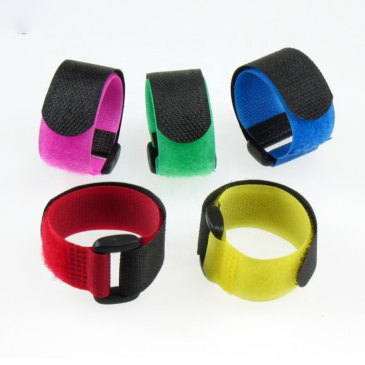 Eco-Friendly recirculating 100% Nylon Packing Belt buckles custom logo hook and loop velcroes strap with buckle