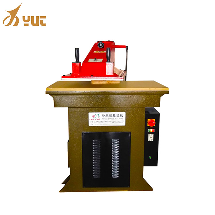 Low Noise Hydraulic Swing Arm Punching Machine Shoemaker Shoe Upper Leather/Plastic Rubber/Soft Wood Sticker Cutting Machine