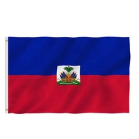 Hot Selling 3x5ft Large Digital Printing Polyester National Haiti Flag