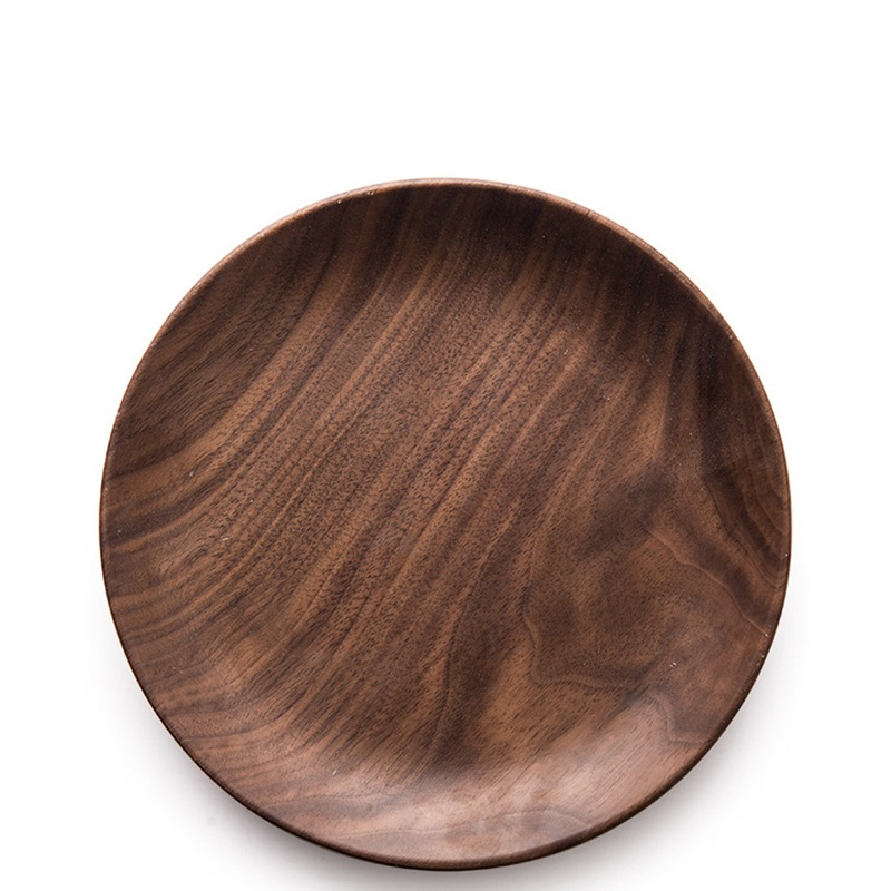 Amazon Hotsales 10inch Natural Wooden Steak Serving Customized LOGO Wholesale Souvenir Round Acacia Wood Dinner <strong>Plate</strong>