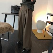 Женские широкие брюки TWOTWINSTYLE, повседневные Прямые брюки с рюшами и карманами на высокой талии, осень 2020(Китай)