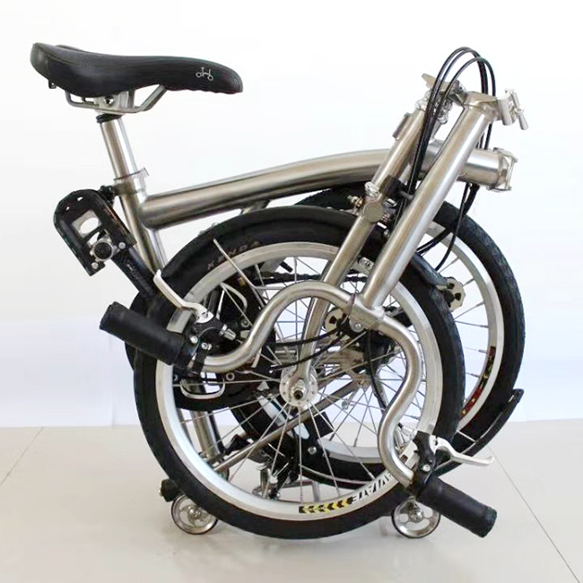 2019 hot sale 16 inches Gr9 Titanium brompton folding <strong>bicycle</strong>