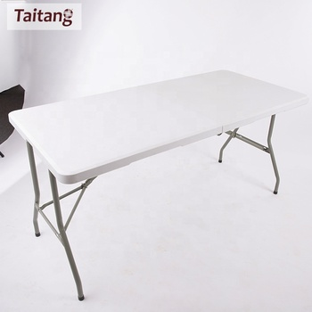Outdoor Plastic Table Lightweight White Party Portable Folding Table