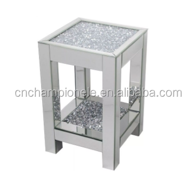Bedside Table Wooden Crushed Diamond Modern Nightstand