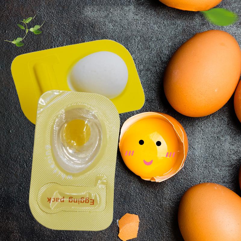 थोक अंडा मुखौटा मॉइस्चराइजिंग चमकती त्वचा त्वचा की सफाई अंडा पोषण नींद मुखौटा यात्रा सूट