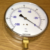 "HF 4"" 4.5"" 115mm stainless steel contractor pressure gauge manometer"