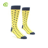 DQ-B171 yellow mens yellow dress socks