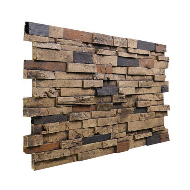 Dry Stack Faux Stone Panels Artificial Stone Wall Ledge Stone Veneer Siding Brick