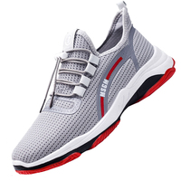 Wholesale breathable men's sports shoes Flying weaving running shoes Soft and