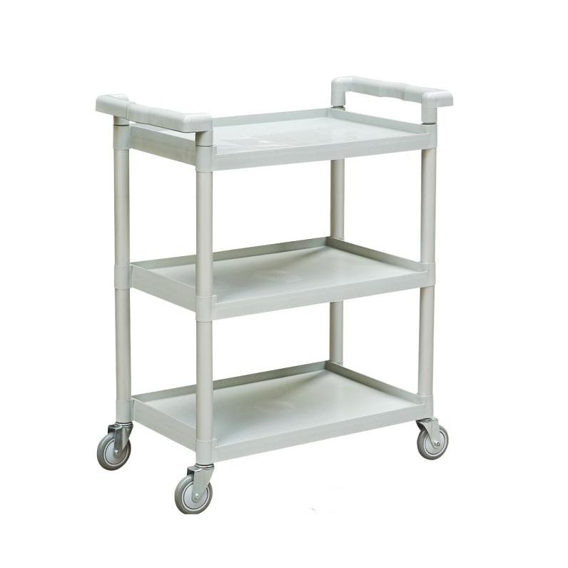 Small 81cm Grey Utility Cart 3 Shelves