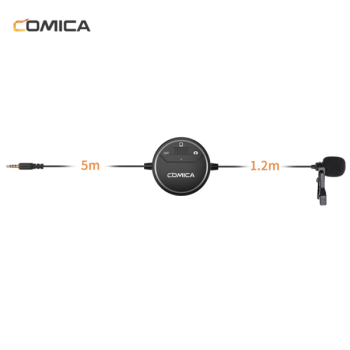 CoMica Lavalier Microphone Clip-on Omni-directional Condenser Microphone for camera,camcorder,smartphone
