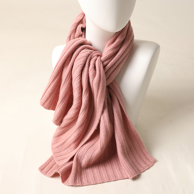 New Knitted Scarf Boys and Girls Cute Pure Color Children Winter Warm  100% Cashmere Scarf