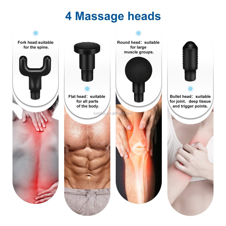 Không Dây Mô Sâu Cơ Bắp Thư Giãn Chăm Sóc Sức Khỏe Sản Phẩm Trở Lại Lập Trình LED Tin Nhắn Cầm Tay Quạt Cầm Tay Massage Cơ Bắp Súng