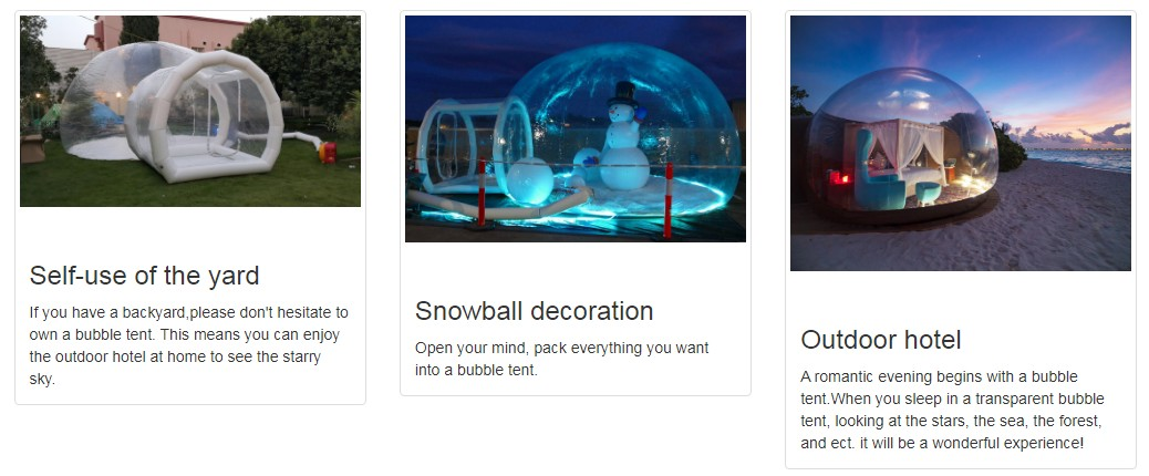 Clear inflatable bubble tent with tunnel ,inflatable tents for trade shows,inflatable garden tent