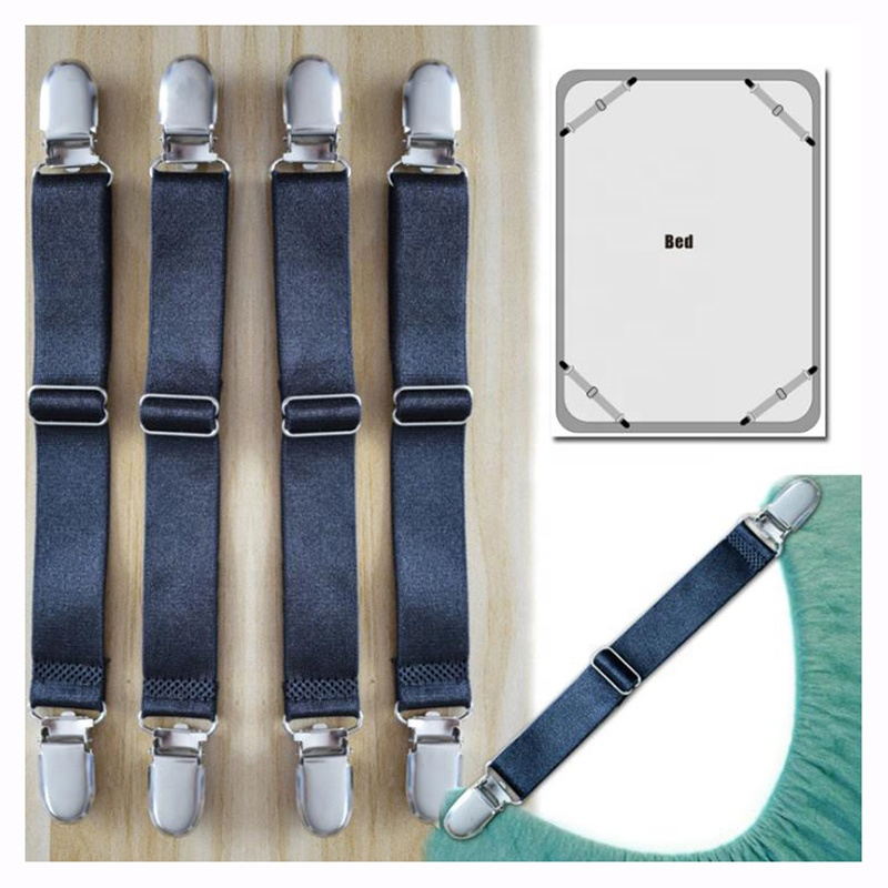 wholesale a set of 4 pcs adjustable bed couch crib sheet straps safety suspenders