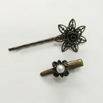 Muslin style hair pins antic style flower shape gift for women