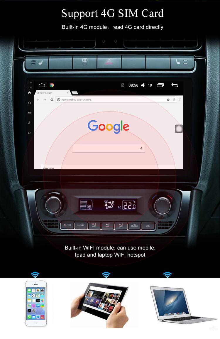 Android 9.0 autoradio GPS Navigation DVD lecteur stéréo système multimédia pour Honda Accord 2014 2015 2016 2017 2018