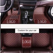 Кожаный напольный коврик для автомобиля на заказ, для mercedes benz W169 A180 W176 A180 A200 CLK200 GL450 S320 C E S series и т. д., автомобильные аксессуары(Китай)