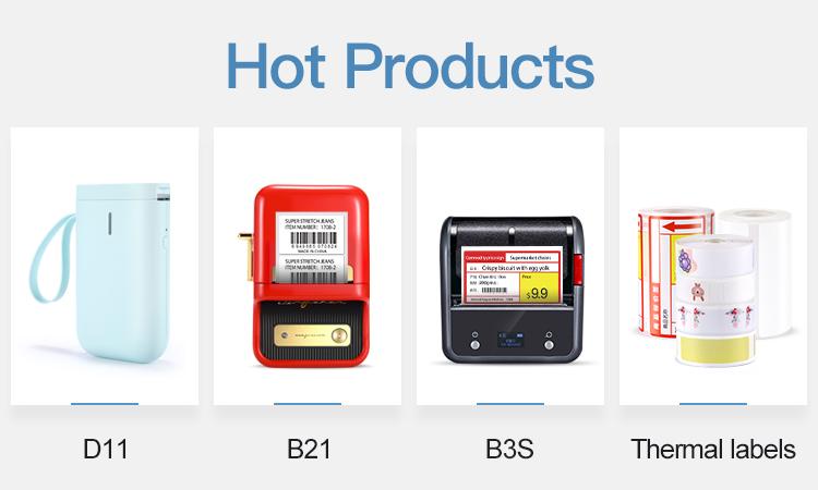Jingchen D11 smart bottle label printer home portable thermal Mini bluetooth-printer printer for labels