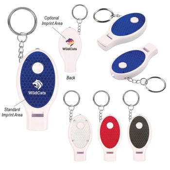 WHISTLE KEY CHAIN WITH LIGHT FLASHLIGHT
