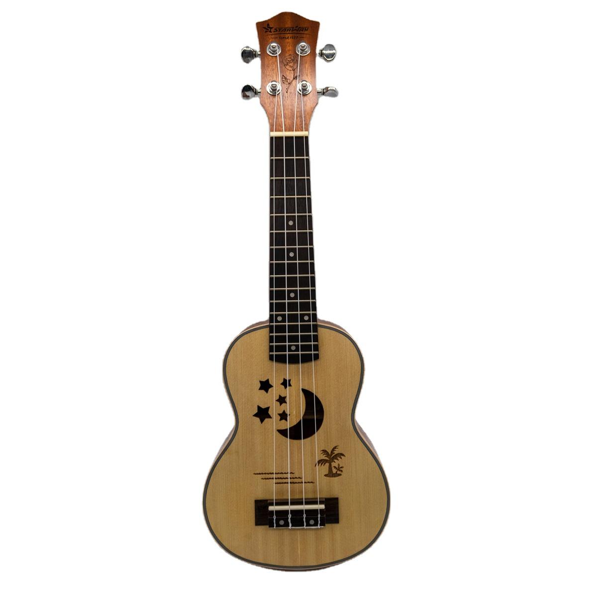 Licht Gewicht Custom gitarre Wahre colorsBaritone Solide Mahagoni Ukulele