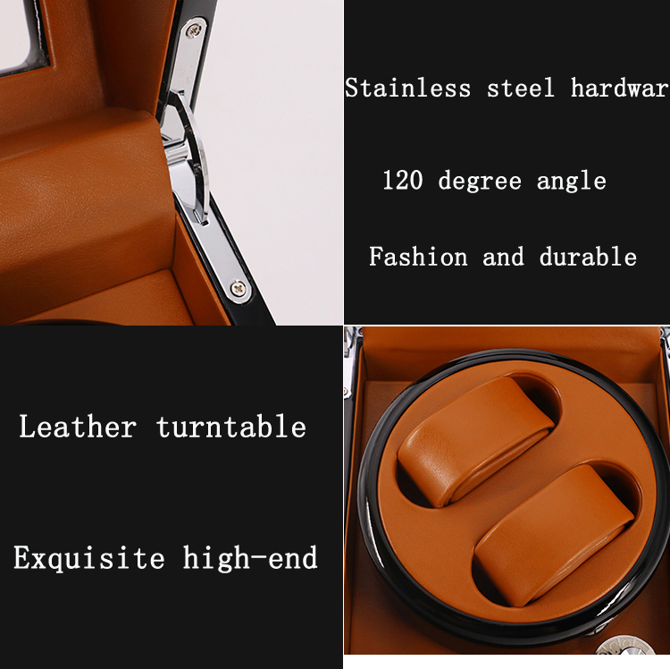 Automatic  rotating watch  box winder  2+3 with LED