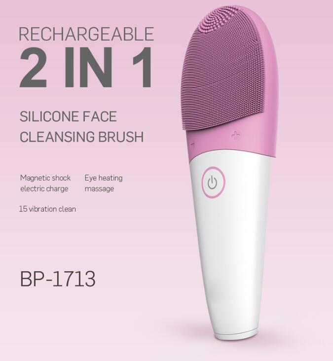 Newest facial deep cleansing machine soft silicone electric face cleaning brush multi-functional beauty equipment