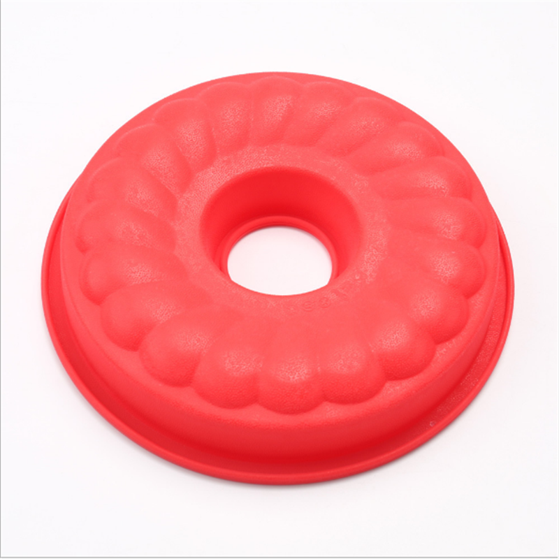 Hollow silicone doughnut cake molds heat resistant cake molds food grade cake molds