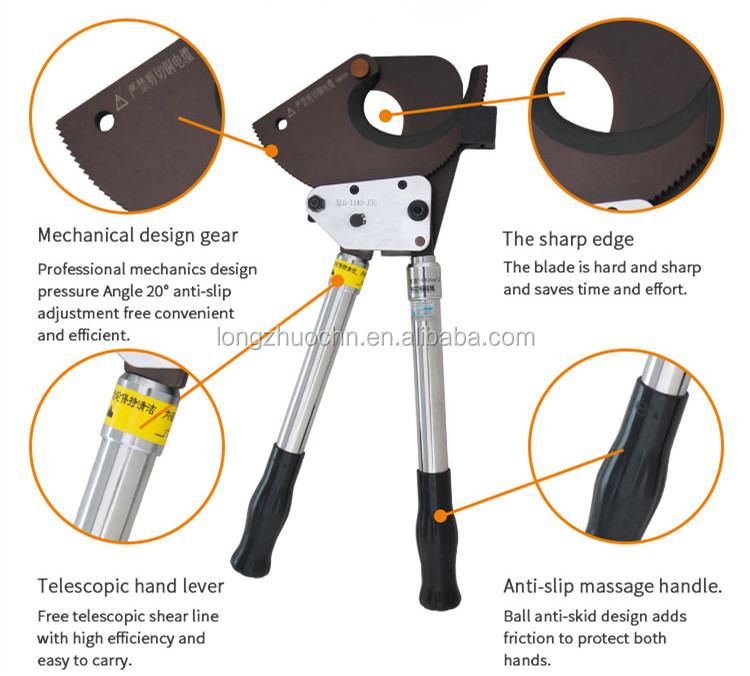 Heavy Duty Ratchet Electric Cable Cutter Tool Armored Cable Wire Cutter