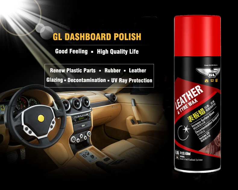 High Quality Tyre And Leather Wax silicone dashboard polish