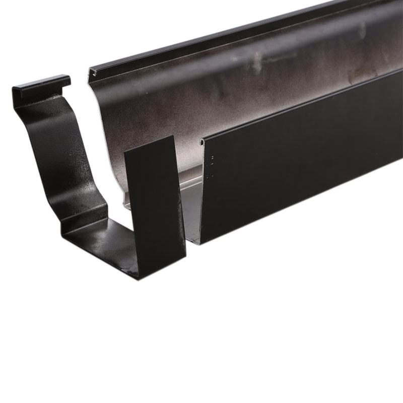 निविड़ अंधकार सामग्री सस्ते बारिश gutters छत जल निकासी प्रणाली आयताकार downspout और गटर कोहनी