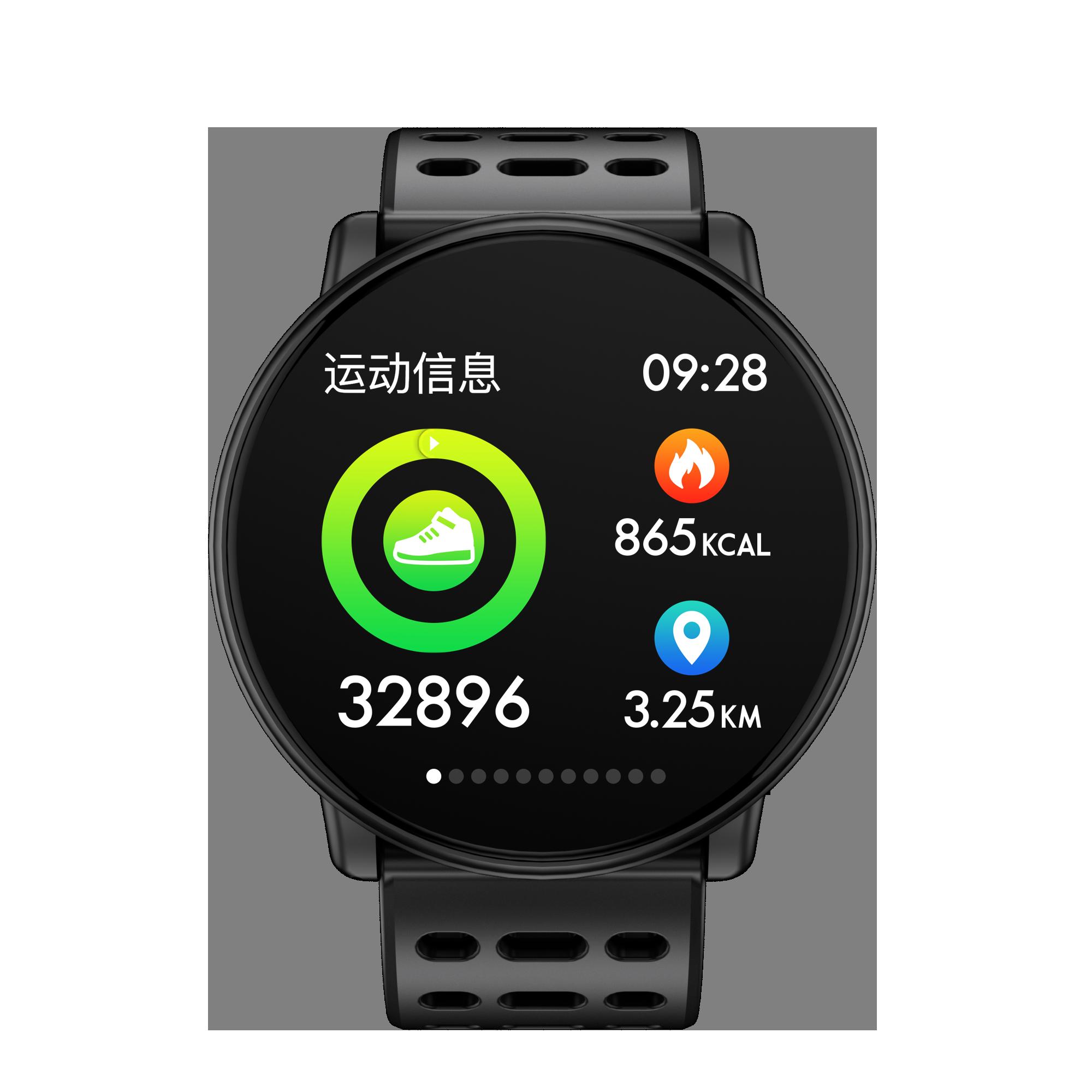 Большой цветной экран умные часы пульсометр многоцветный для выбранного