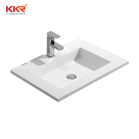 KKR molded bathroom sink countertop bathroom wash basins