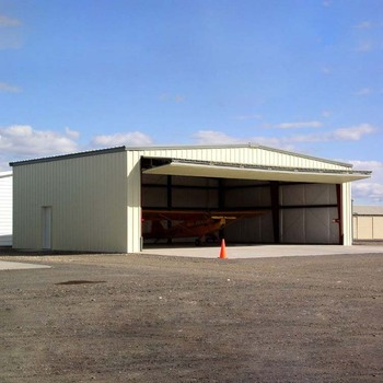 Steel structure prefabricated steel frame aircraft hangar