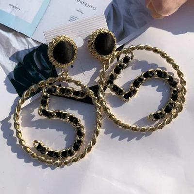Роскошные серьги, женские серьги, ювелирные изделия, стразы, буквы, дизайнерская Серьга для женщин, модные, элегантные, длинные, минималисти...(Китай)