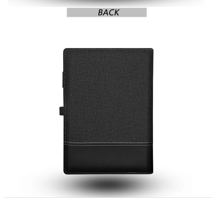 사무용품 도매 pu 가죽 B5/A5 전원 은행 USB 빈 노트북