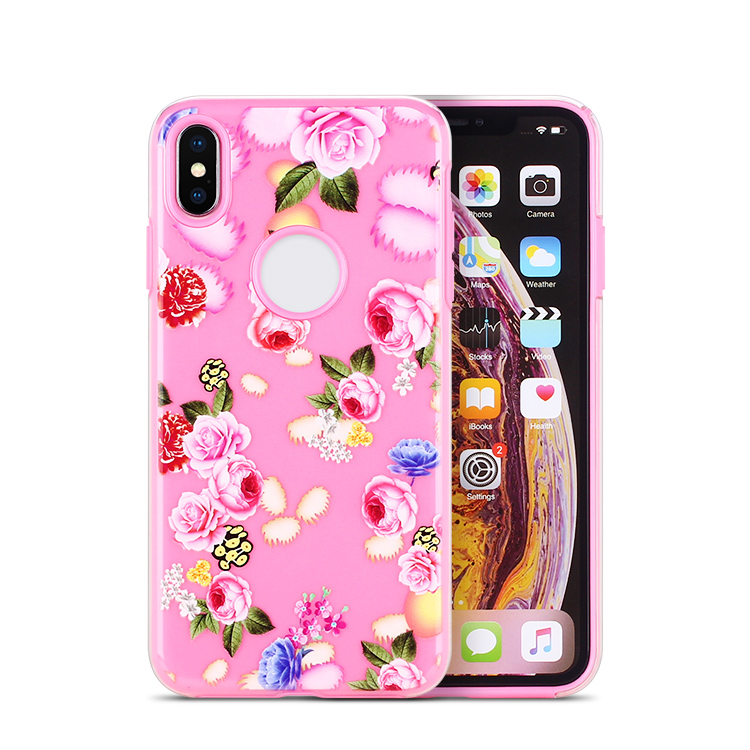 Factory Direct Custom Print Phone Case for iPhone X XS XR cover case with Tempered Glass