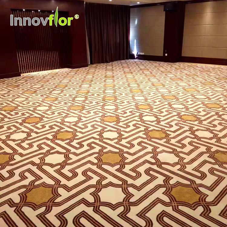 Innovflooring nylon flock teppich fliesen außen gummi teppich für hotel eingang