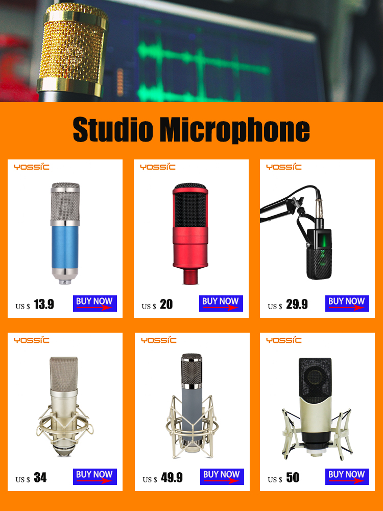 Professional condenser large diaphragm microphone  for live streaming