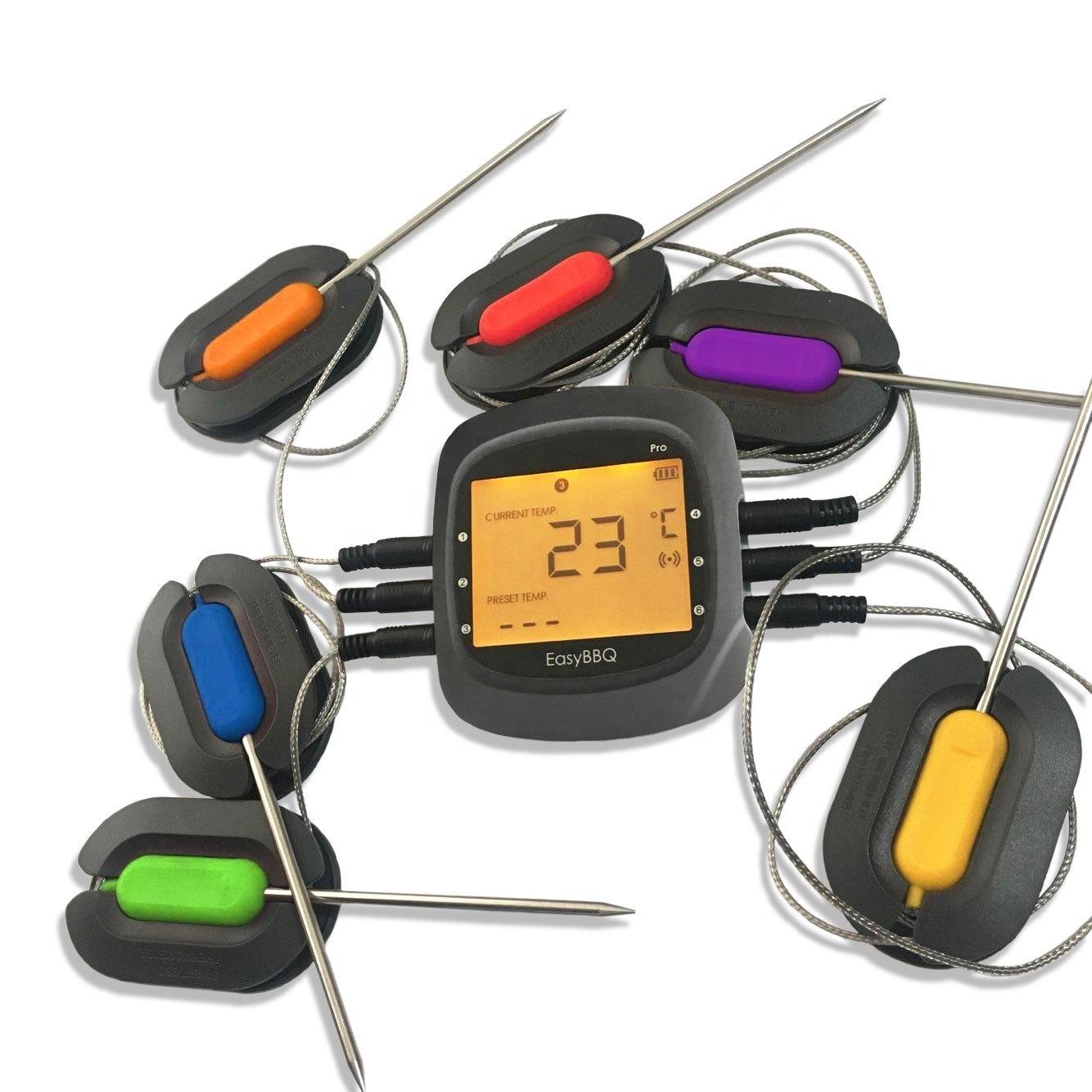 6-канальный термометр для барбекю Bluetooth приготовления Мяса термометр для духовки гриль